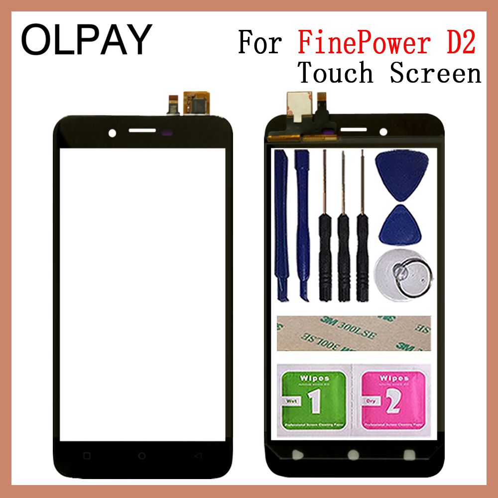 Mobile Phone Touch Screen 5.0'' Inch For FinePower D2 Touch Screen Glass Digitizer Panel Lens Sensor Glass Repair