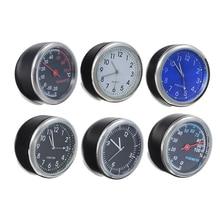 New Arrival Automobile 4cm Mini Car Auto Digital Clock Ornament Thermometer Hygrometer Car Interior Accessories