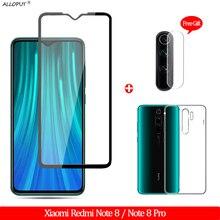 лучшая цена 3-in-1 Case + Glass Film Redmi Note 8 Tempered Glass Xiaomi Redmi Note 8 Pro Screen Protector redmi note 8 pro Camera Glass