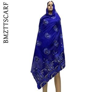 Image 5 - Yeni varış afrika kadınlar eşarp yumuşak pamuk nakış atkılar şal satış BM778
