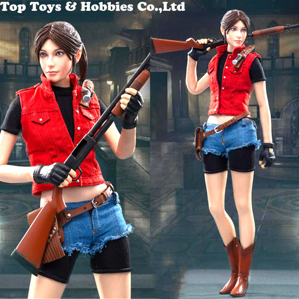 SWTOYS 1/6 FS023 Ke-Mei Little Sister Younger Sister Redfield 2.0 Action Figures Full Set Doll Toy Colletible With Box