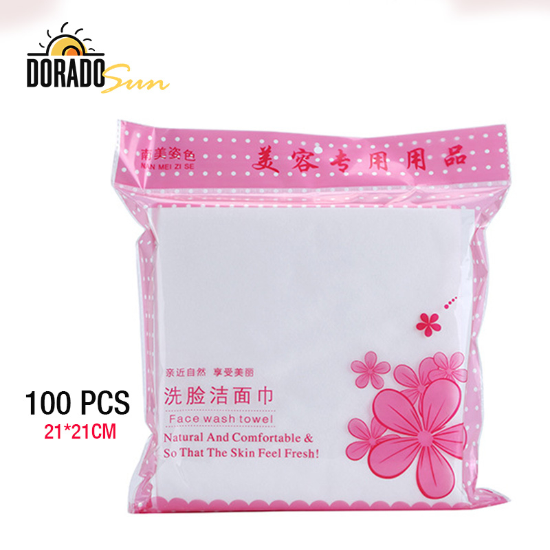 Doradosun 100 PCS Cotton Pad Disposable Facial Cleansing Towel Beauty Facial Cleansing Towel Paper Soft Makeup Cleansing Pad