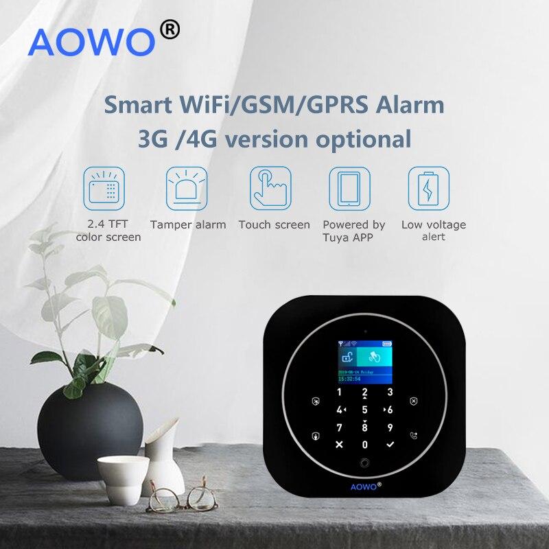 WiFi GSM Wireless Security Alarm mit Tuya APP Alexa Google Smart Home Voice Control TouchScreen RFID IP Cam Touchscreen RFID - 5