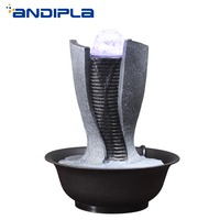 110V/220V Creative Geometry Feng Shui Fountain Living Room Office Desktop Water Fountain Ornamental Business Gift Home Decor New