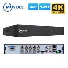 Movols 4K 8CH Hybrid Dvr H.265 8MP 5MP 5 In 1 Ahd Cvi Tvi Cvbs Voor Cctv Kit Hdmi vga Onvif P2P Video Surveillance Dvr Recorder
