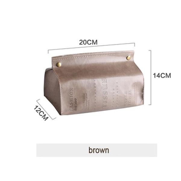Шикарный чехол для салфеток, контейнер из искусственной кожи с мраморным узором, для дома, автомобиля, полотенца, салфетки, бумаги, сумка, держатель, чехол, мешочек, украшение стола - Цвет: brown style 1