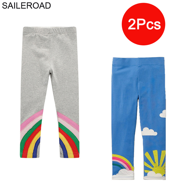SAILEROAD 3 sztuk legginsy dla dziewczynek zwierząt dziecko jest Legging jesień ubrania dla dzieci legginsy dla ubrania dla dzieci zima 6 lat
