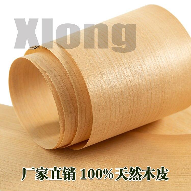 2pcs L:2.5Meters Width:160mm Thickness:0.2mm Natural Cherry Straight Grain Wood Skin American Cherry Wood Skin