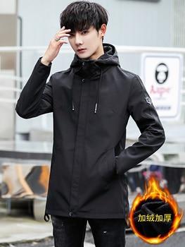 Men's Jacket Modern Long Sleeves Spring Clothes Outdoor Plus Velvet Plus Thick Jacket Men's Handsome Cape Bestselling GG50jk