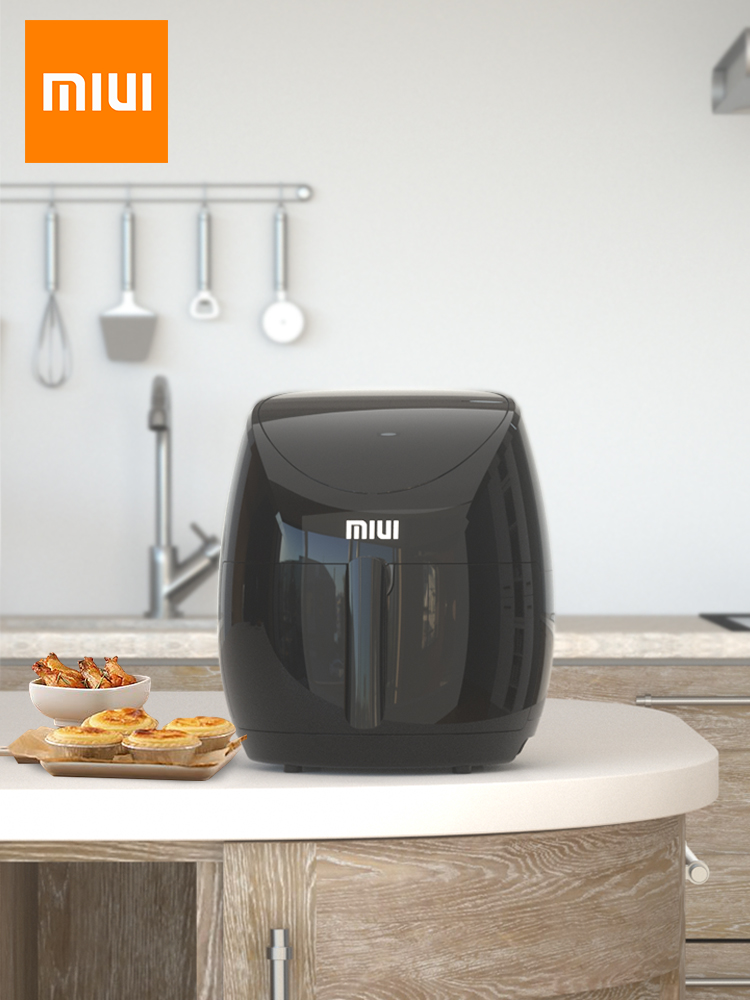 MIUI 4.6L Electric Air Fryer Oven MI-CYCLONE 360°Baking LED Touchscreen Deep Fryer without