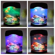 مصباح LED صناعي لحوض السمك ، ضوء مزاجي مثالي للسباحة أو كديكور للمكتب أو في المنزل ، IQ6