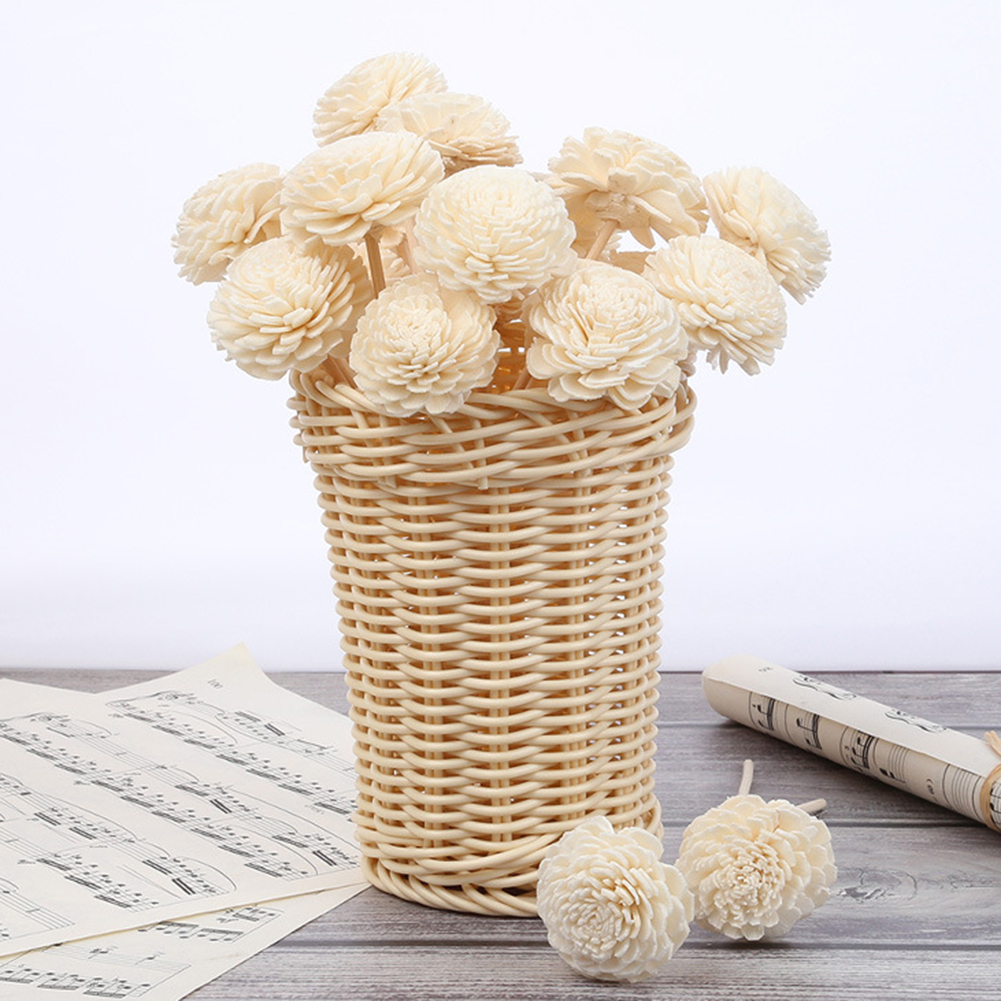 5pcs Daisy Flower Rattan Reeds Fragrance Diffuser Non-fire Replacement Refill Sticks Home Living Room Aromatic Incense