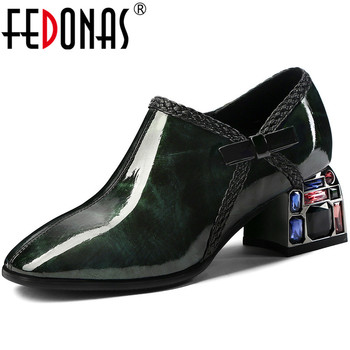 FEDONAS Side Zipper Butterfly Knot Genuine Leather Shoes Women New Sexy Fashion High Heels Pumps Wedding Night Club Shoes Woman
