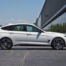 Listras do esporte carro de fibra carbono porta lateral saia decalques auto corpo decoração decalque para bmw série 3 gt f34 f30