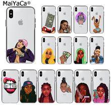 MaiYaCa Розовый сделать деньги не друзья каш черная голова девушка чехол для телефона для Apple iphone 11 pro 8 7 66S Plus X XS MAX 5S SE XR