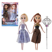 2pcs Frozen 2 Elsa and Anne Princess Doll Action Figure Toys Girls Toys Collection Model Decoration Toys Birthday Gifts for Kids 2019 11cm q posket princess figure toys mulan princess action figure model collection pvc toys b862