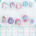 Единорог наклейки для ногтей для детей мультяшный дизайн ногтей украшение для ногтей Обертывания милые элементы Маникюр Фольга наклейки д...