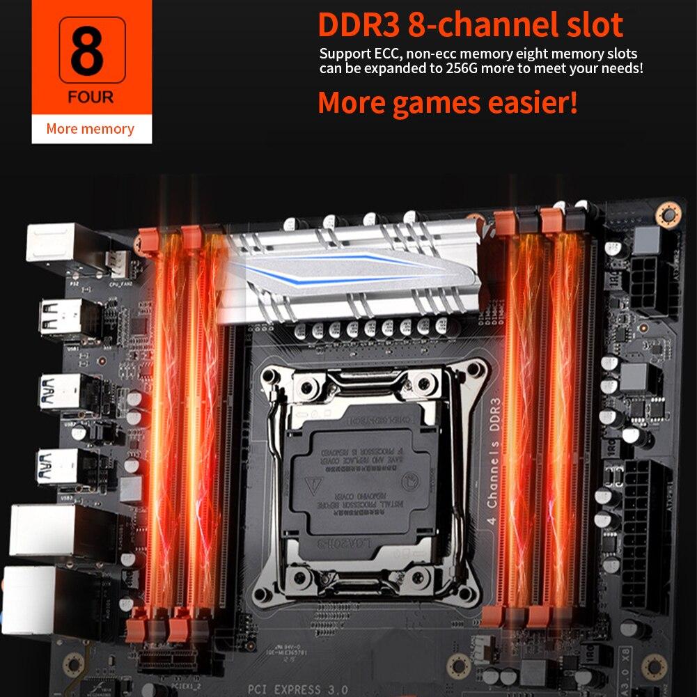 X99 large utilisation accessoires de jeu de remplacement E5 2678v3 rapide ordinateur de bureau DDR3 mémoire carte mère USB Interface Stable maison