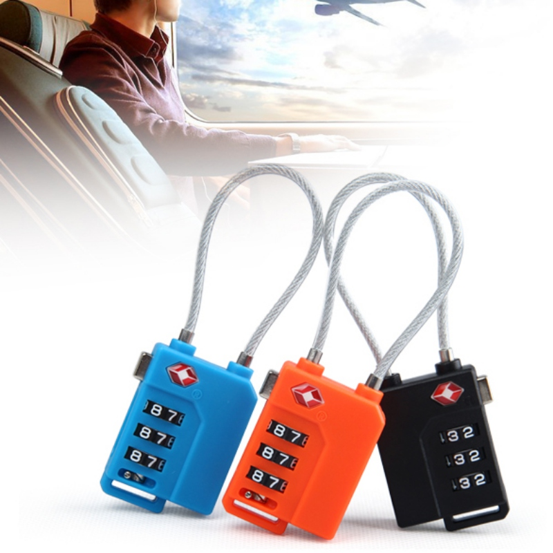 Outdoor Tools TSA Padlock Smart Combination Luggage Lock 3 Digit Password Resettable Security Lock Code Suitcase Luggage Lock