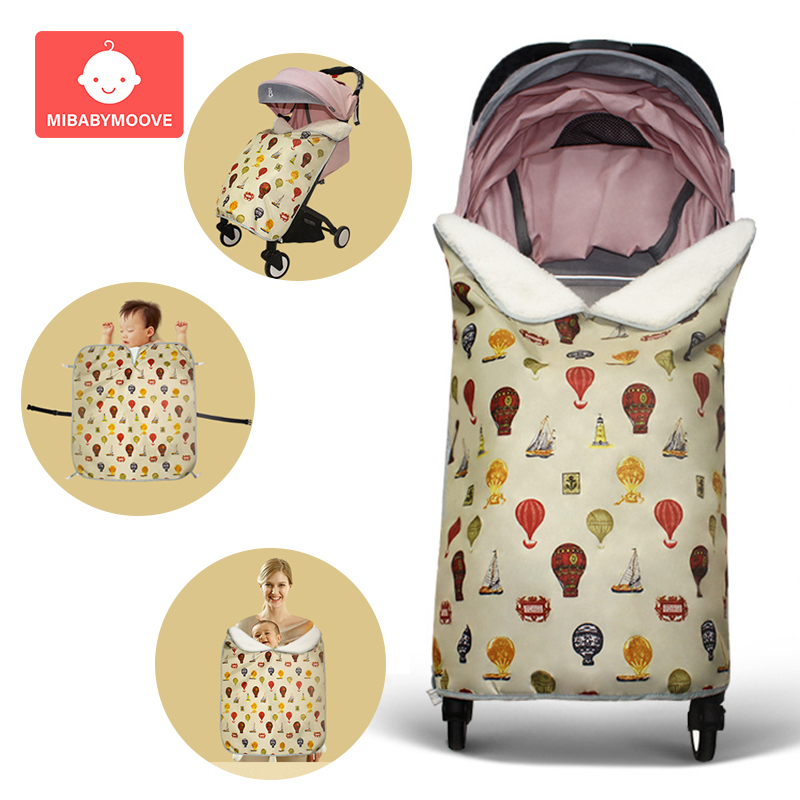 Baby Blanket Swaddle Wrap Stroller Cover Winter Warm Infant Baby Swaddling Cart Seat Sleeping Blanket Waterproof Canopy-cover