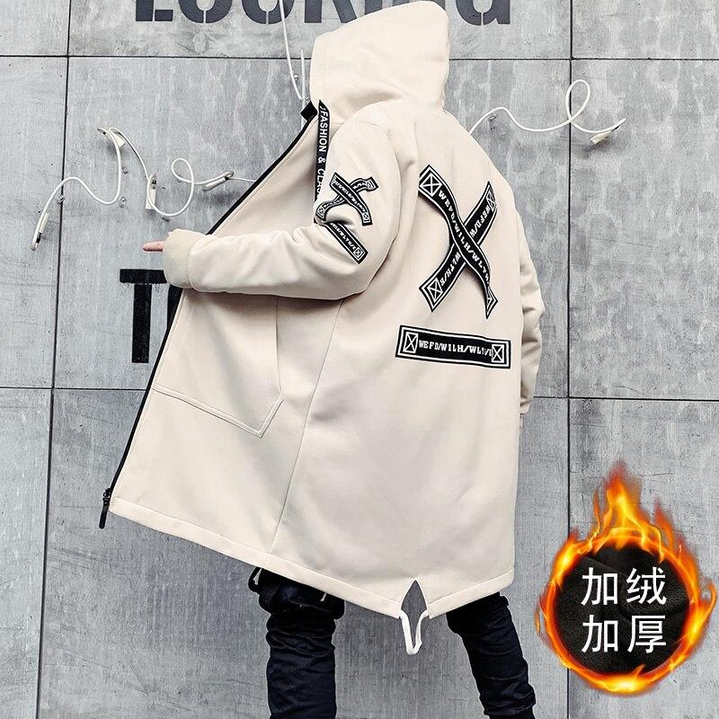 Мужская зимняя куртка, Длинная с капюшоном, тонкая, модная, повседневная, толстая, теплая, куртка, Мужская, размера плюс, 5XL, мужская одежда - 3