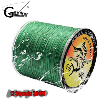 12 Strands Braided Fishing Line 300M PE Wire 35LB-180LB Multifilament 8 Colors to Choose - discount item  55% OFF Fishing