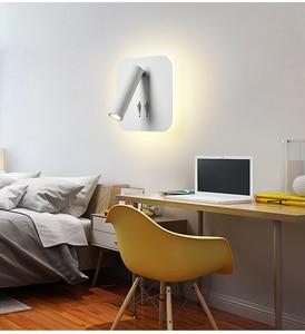 Image 2 - وحدة إضاءة LED جداريّة مصابيح القراءة 3 واط 6 واط قطاع ضوء الظهر ضوء غرفة نوم دراسة غرفة المعيشة الشمعدان قابل للتعديل مع التبديل السرير الجدار ضوء
