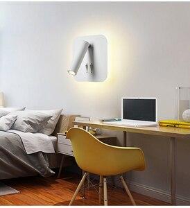 Image 2 - Đèn LED Dán Tường Đọc 3W 6W Dải Ánh Sáng Đèn Sau Phòng Ngủ Nghiên Cứu Phòng Khách Sconce Điều Chỉnh Có Công Tắc đầu Giường Đèn
