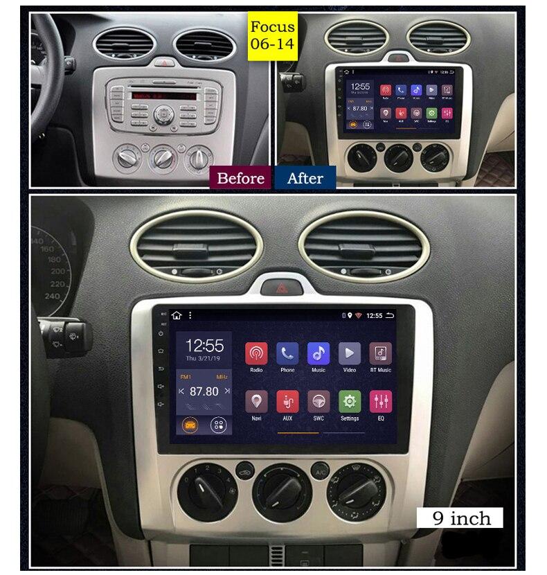 Auto radio player per Ford Focus multimediale per auto 2006 2014 2 32G 8 core android GPS per auto di navigazione carplay Videocamera vista posteriore - 4