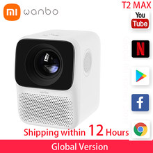 Global Version Wanbo T2 MAX LCD Projector LED Support Vertical keystone Correction Portable Mini Home Theater Xiomi Projector