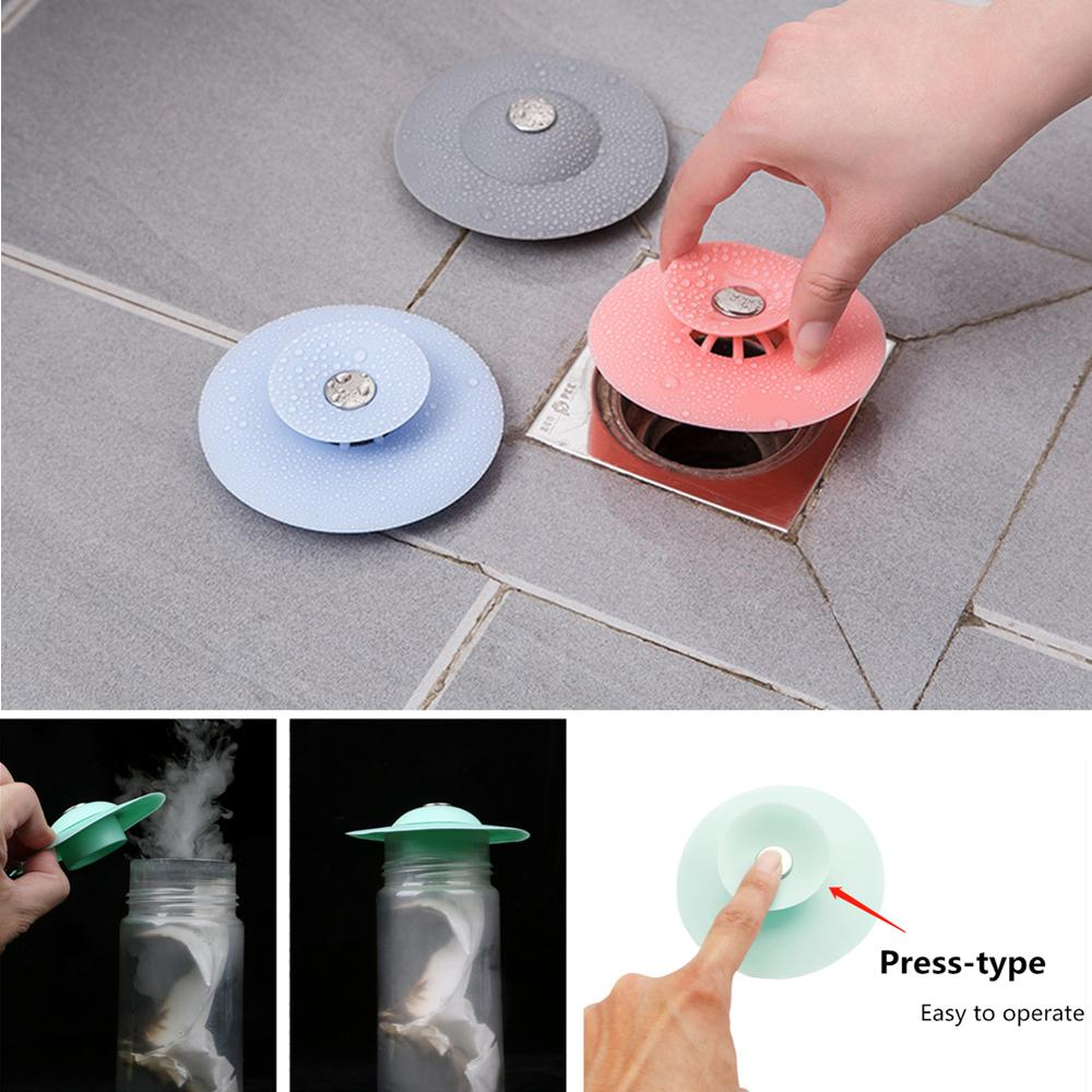 Bathroom Drain Water Plug Stopper Rubber Circle Sink Strainer Filter Stopper Floor Drain Hair Water Stopper Kitchen Tool