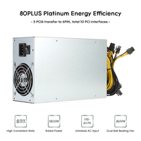Hot 1800W Switching Server Power Supply 90% Professional Mining Machine Power Source for Ethereum S9 S7 L3 Rig Mining 180 260V