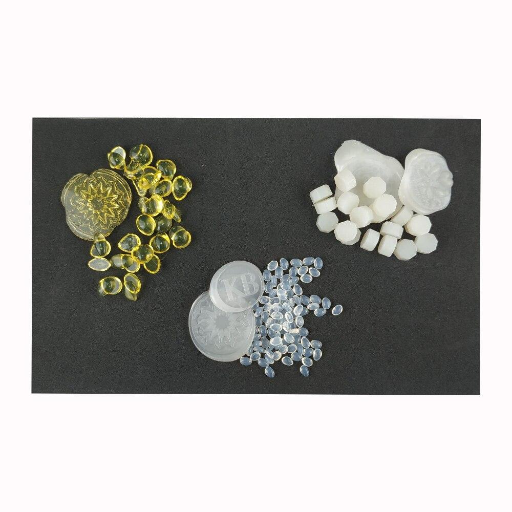 Diy Semi Transparent Wedding Stamp Sealing Wax Seal Beads Transparent And Amber Glue Beads