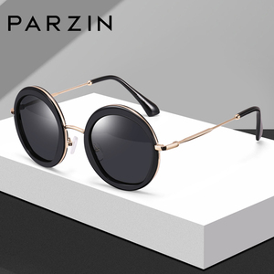Image 5 - PARZIN 여성 빈티지 편광 선글라스 UV400 럭셔리 브랜드 라운드 태양 안경 여성 유행 안경 운전에 대 한