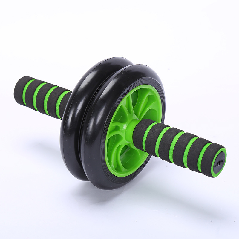 New Style Two-Wheel Mute Power Roller Abdominal Wheel Home Fitness Equipment AB Rocket Roller Push-Ups Equipment