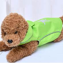 Ropa de moda para perros y gatos, chaqueta de exterior con estampado fluorescente, doble capa, reflectante, impermeable a prueba de viento