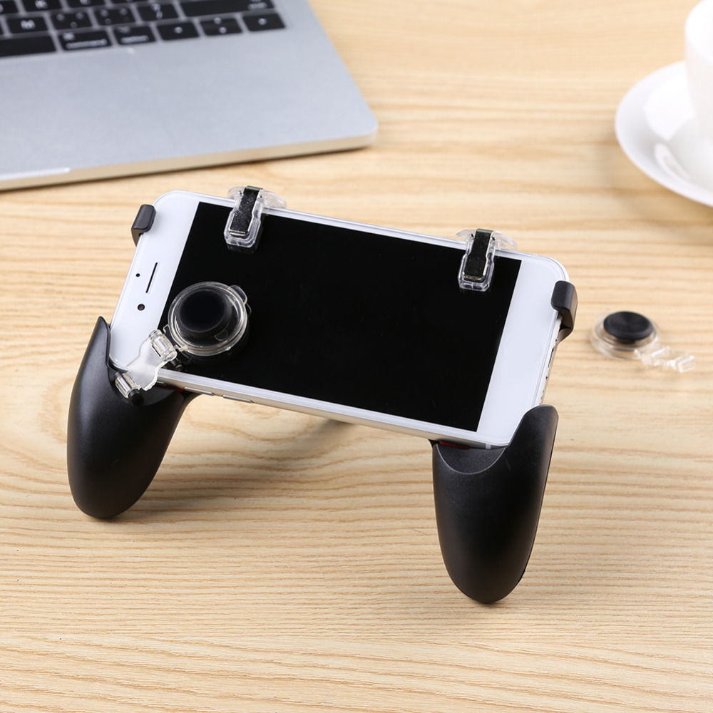 Image 4 - 5 in 1 PUBG Moible Controller Gamepad Free Fire L1 R1 Triggers PUGB Mobile Game Pad Grip L1R1 Joystick for iPhone Android Phone-in Gamepads from Consumer Electronics