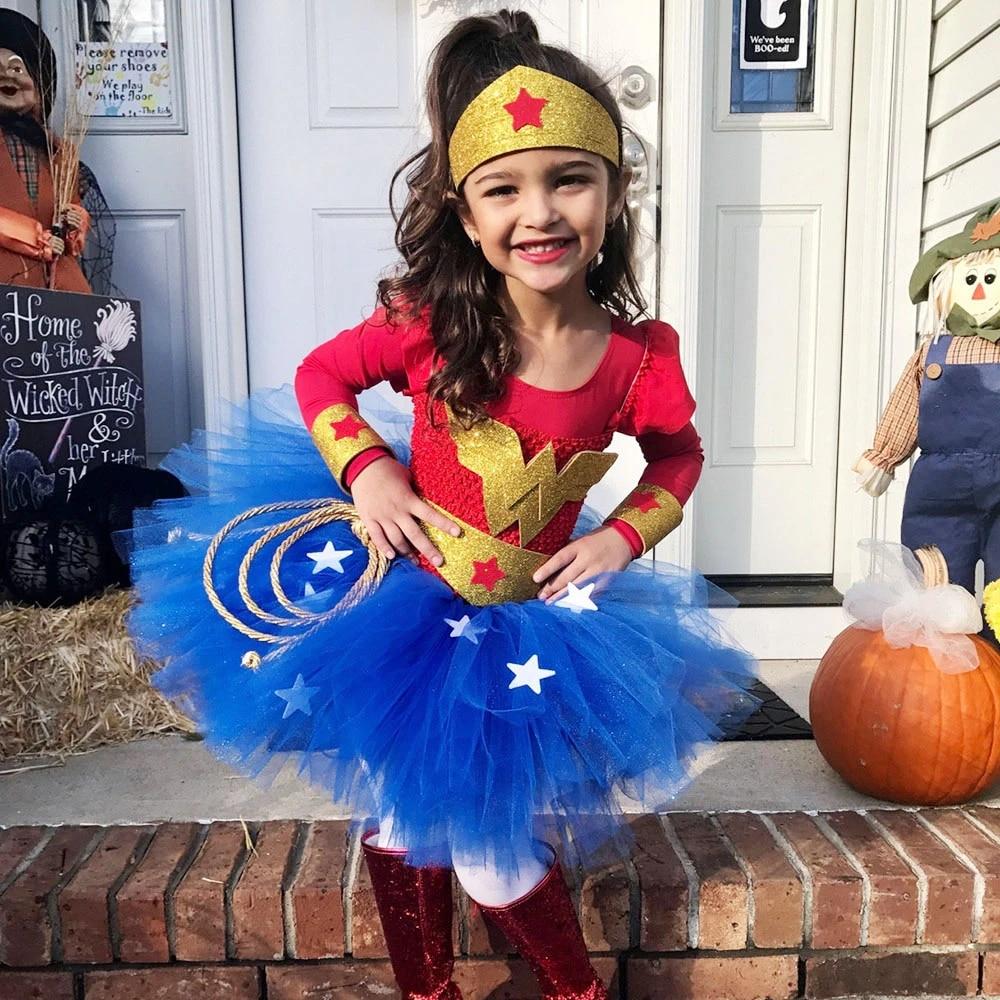 Girl/'s dress Wonder Woman Superhero birthday party