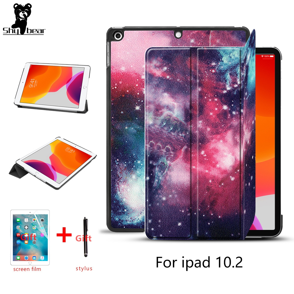 Case For IPad 10.2 2019 Case Cover For IPad 7th Generation 10.2 Inch 2019  Smart Tablet  Funda Capa For IPad 7 +screen Protector