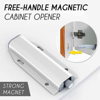 30^Cabinet Opener Free-Handle Magnetic Cabinet Opener Touch Lock Cabinet Push-Pull Open Lock Wardrobe door drawer rebounder image