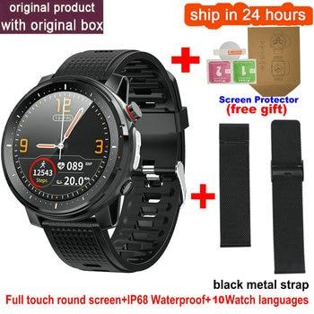 L15 Smart Watch Men 1.3inch Full-fit Round Retina Display Music Control Camera Flashlight PK L5 L9 Smartwatch IP68 Waterproof 12