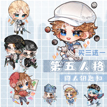 Hot Anime Identity V Emily Dale Freddy Riley Acrylic Cute Keychain Cartoon Itabag School Bag Decor Pendant Keyrings Xmas Gifts(China)