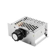 AC 4000W 220V SCR Voltage Regulator Dimmer Electric Motor Speed Controller Electronic Regulator AC 220 Volt Thermostat 4000W