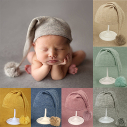 Вязаная шапка для новорожденных мальчиков и девочек, аксессуары для фотосессий, шапочка для новорожденных, фото новорожденных