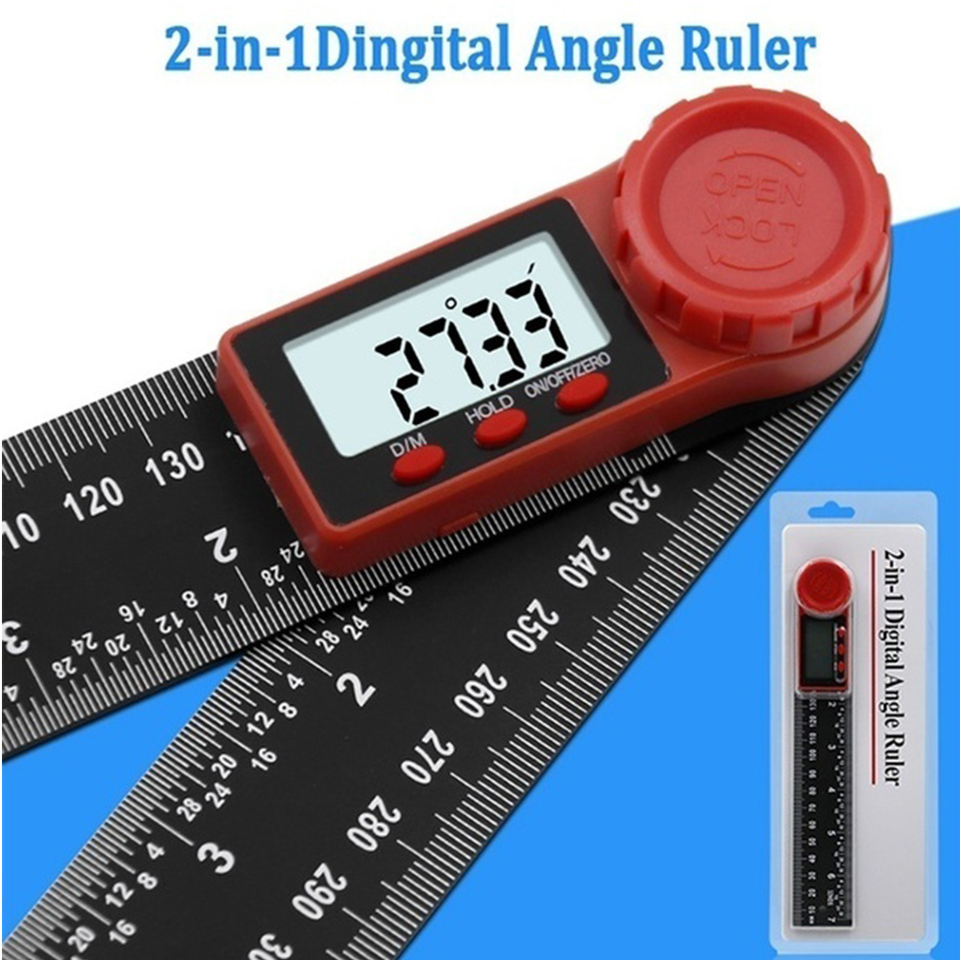 2 IN 1 Digital Meter Angle Inclinometer Electron Goniometer Protractor Measuring