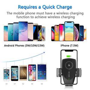 Image 5 - Suntaiho 15w qi sem fio carregador de carro aperto automático para o iphone 11 promax samsung s10 s9 note10 8 respiradouro ar montar suporte do telefone