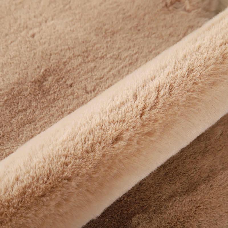 漫画のクマのカーペットふわふわ毛深いウサギの毛皮カーペット子供キッズルーム豪華な人工ウールマット椅子クッション