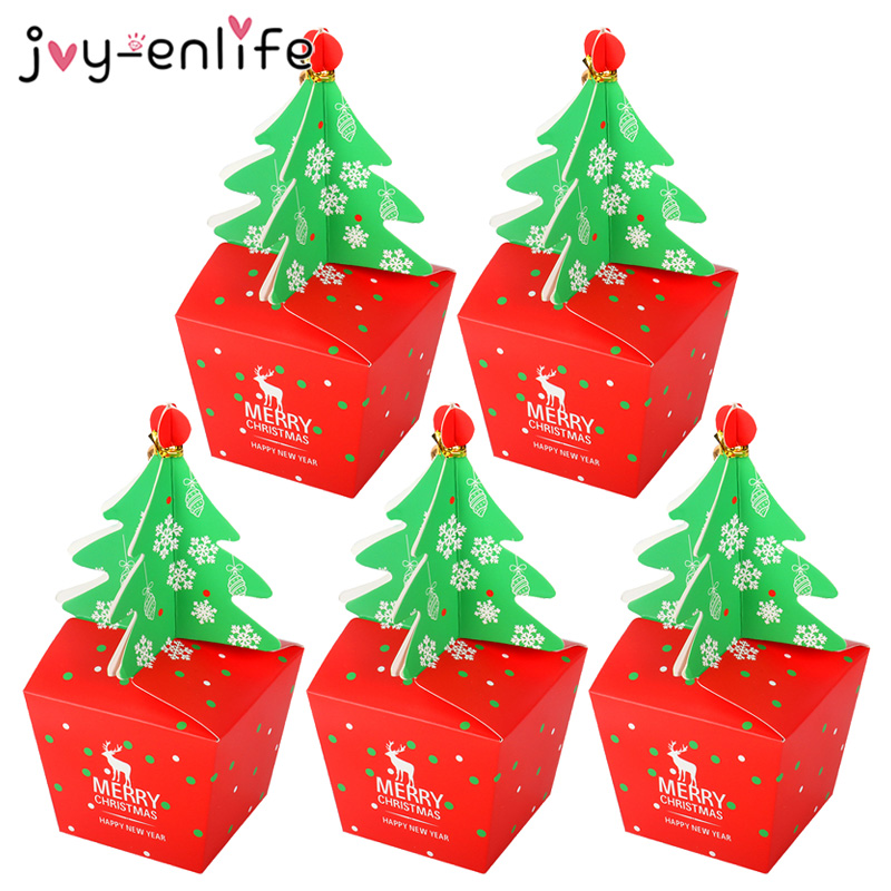 Christmas Candy Box Christmas Party Cookie Bag Gift Box Christmas Decorations For Home Packing Boxes Navida Natal Decoration
