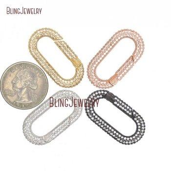 Oval Carabiner Spring Belt Clip Key Chain Zircon Belt Strap for Jewelry Making FC32995