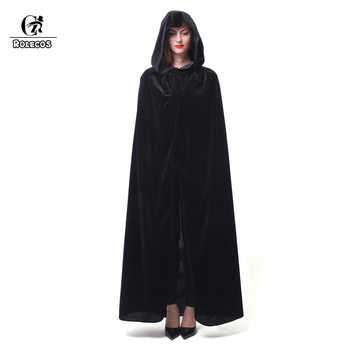 ROLECOS Hot Sale Halloween Cosplay Costume for Adult Long Purple Green Red Black Cloak Witch Wizards Hood with Capes Costume - DISCOUNT ITEM  20% OFF All Category